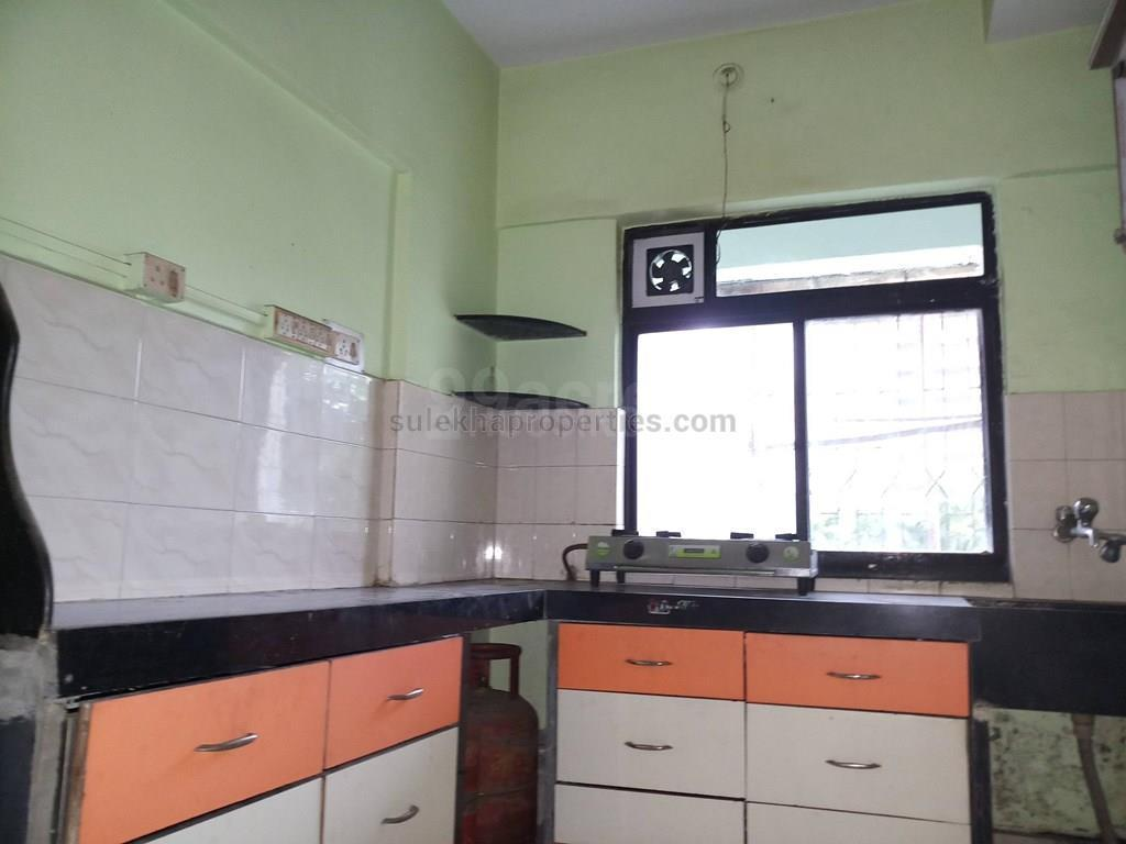 Kitchen Image of 565 Sq.ft 1 BHK Apartment for rent in Thane West for 18000
