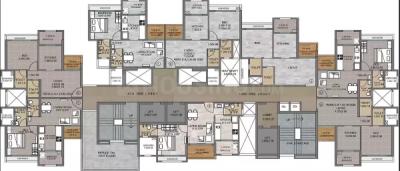 पार्थ लेकफ्रंट, ऐरोली  में 7090000  खरीदें  के लिए 700 Sq.ft 1 BHK अपार्टमेंट के फ्लोर प्लान  की तस्वीर