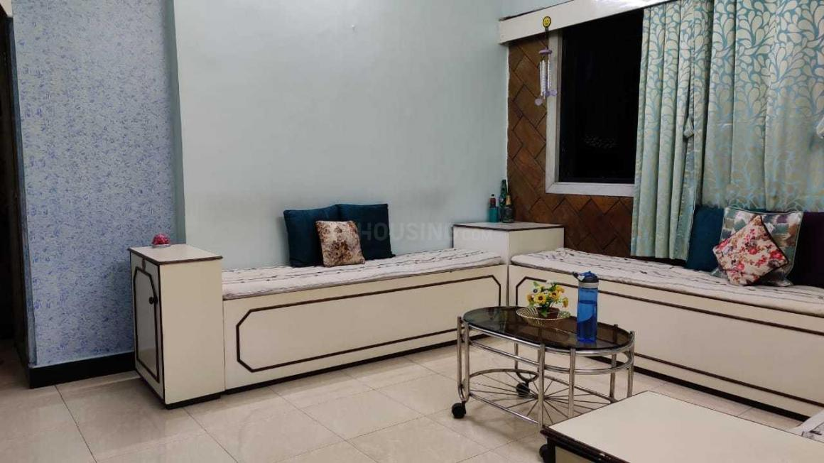 Living Room Image of 650 Sq.ft 1 BHK Apartment for rent in Thane West for 16000