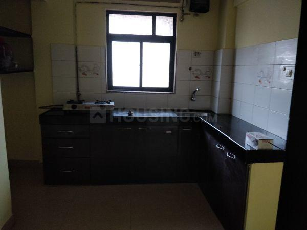 Kitchen Image of 600 Sq.ft 1 BHK Apartment for rent in Ghodbander for 16500