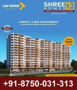Gallery Cover Image of 1040 Sq.ft 2 BHK Apartment for buy in Sarvome Shree Homes, Sector 45 for 2633000
