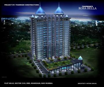 Gallery Cover Image of 1248 Sq.ft 2 BHK Apartment for buy in Tharwani Rosebella, Kharghar for 9500000