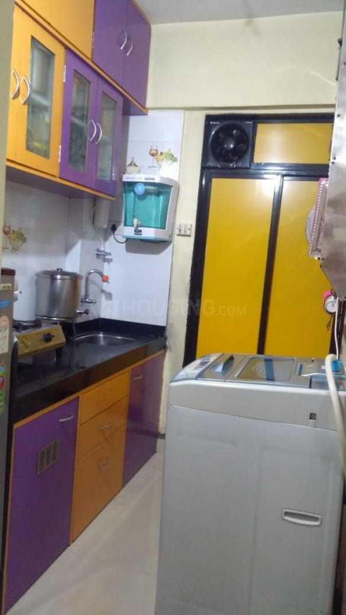 Kitchen Image of 400 Sq.ft 1 RK Independent Floor for buy in Kopar Khairane for 3600000