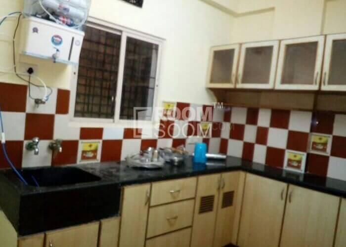 Kitchen Image of PG On Sharing Basis For Male Near Kolshet Road Ynh in Thane West