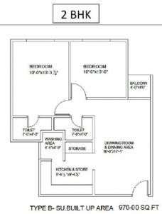 Gallery Cover Image of 970 Sq.ft 2 BHK Apartment for rent in Savvy Strata, Sarkhej- Okaf for 20000
