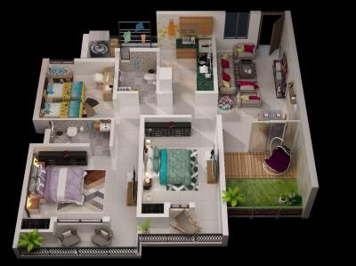 Gallery Cover Image of 1600 Sq.ft 3 BHK Apartment for buy in Mangla for 3800000