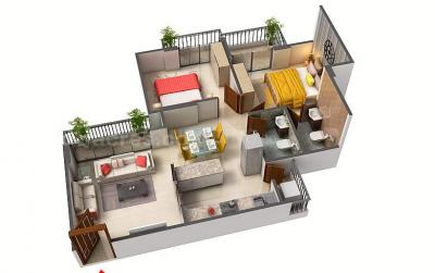 Gallery Cover Image of 800 Sq.ft 2 BHK Apartment for buy in Vasai West for 1708000