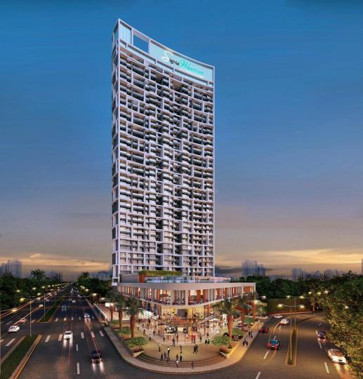 Building Image of 1058 Sq.ft 2 BHK Apartment for buy in Sunteck Signia Waterfront, Airoli for 18000000