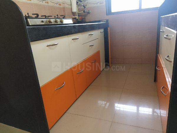 Kitchen Image of 642 Sq.ft 1 BHK Apartment for rent in Borivali East for 18000
