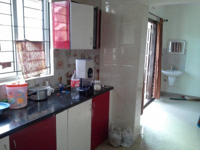 Kitchen Image of Aashphire Heights Singel Room in Marathahalli
