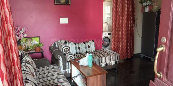 Living Room Image of 900 Sq.ft 2 BHK Independent Floor for rent in Mathikere for 16000
