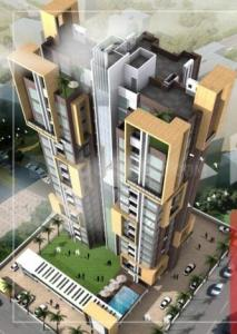 Gallery Cover Image of 1500 Sq.ft 3 BHK Apartment for buy in KGC Solitaire 20, Entally for 12300000