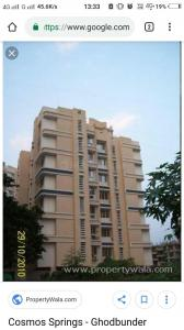 Gallery Cover Image of 950 Sq.ft 2 BHK Apartment for rent in Cosmos Springs, Thane West for 19000