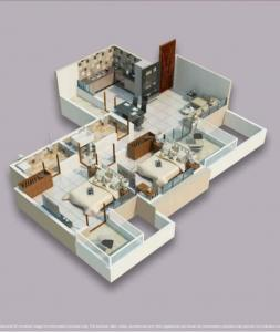 Gallery Cover Image of 913 Sq.ft 2 BHK Apartment for buy in Sukhwani Pacific, Thergaon for 6500000