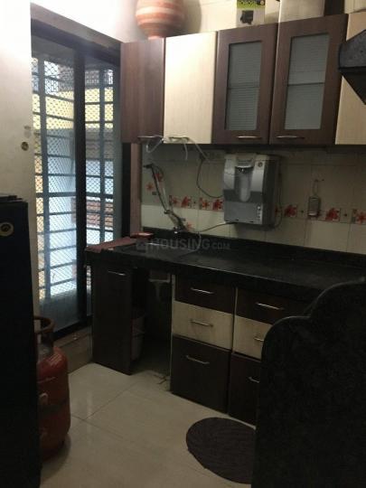 Kitchen Image of 650 Sq.ft 1 BHK Apartment for rent in Kopar Khairane for 23000
