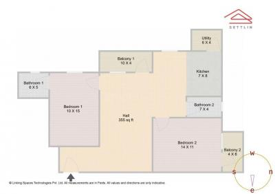 Gallery Cover Image of 1312 Sq.ft 2 BHK Apartment for buy in Muneshwara Nagar for 5200000
