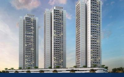 Gallery Cover Image of 1006 Sq.ft 2 BHK Apartment for buy in Aurum Q Residences R2, Ghansoli for 14500000