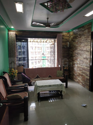 Living Room Image of 1200 Sq.ft 3 BHK Apartment for rent in Kalyan West for 18000