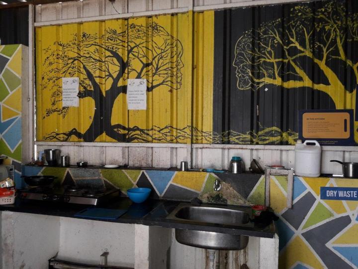 नागवारा में ग्रेक्स्टर इनाया पीजी में किचन की तस्वीर