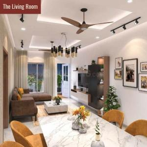 Living Room Image of 1203 Sq.ft 3 BHK Apartment for buy in Abhilasha, Kothrud for 18052000