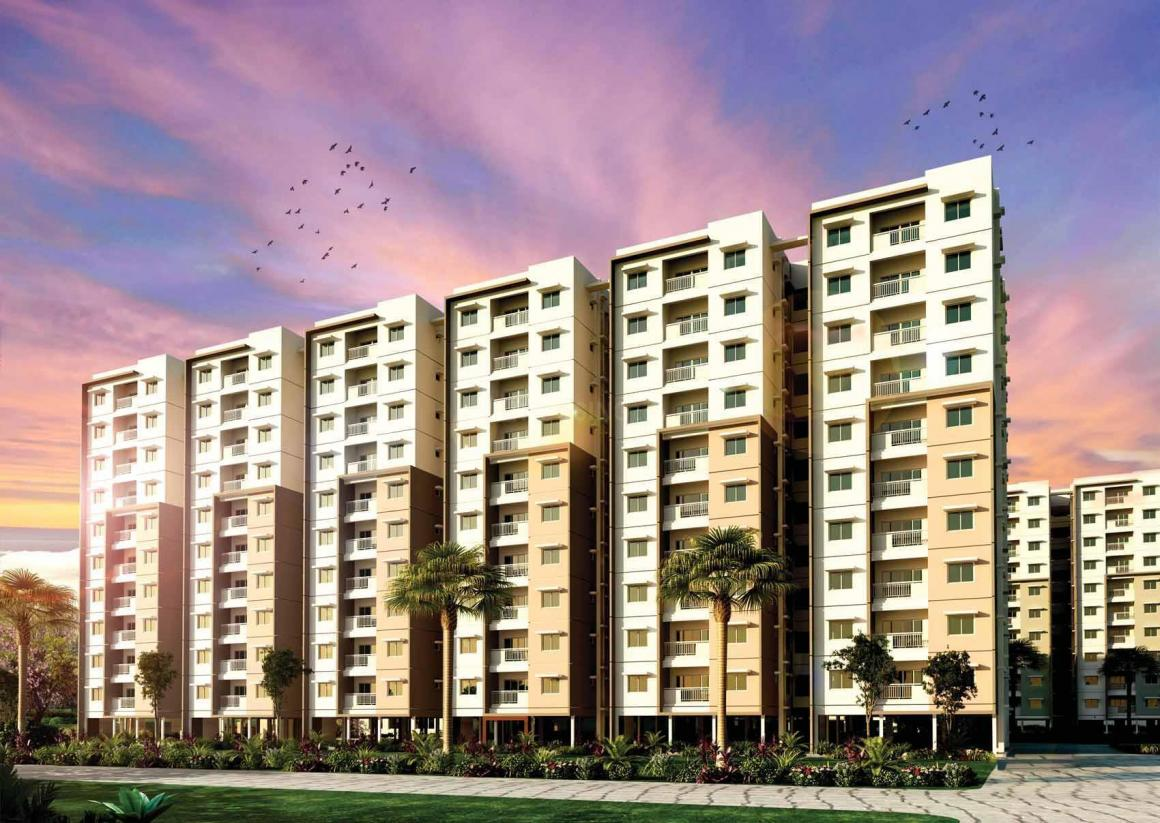 Building Image of 380 Sq.ft 1 BHK Apartment for buy in Budvel for 2100000