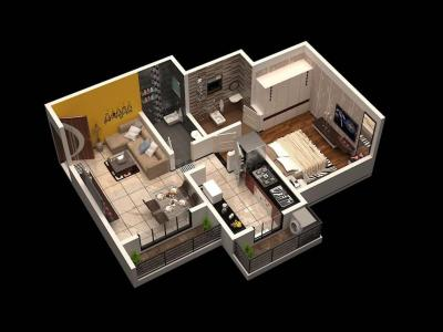 Gallery Cover Image of 619 Sq.ft 1 BHK Apartment for buy in Lodha Panacea I, Dombivli East for 4300000