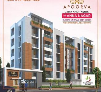 Gallery Cover Image of 1597 Sq.ft 3 BHK Apartment for buy in Marutham Apoorva, Anna Nagar West Extension for 20000000