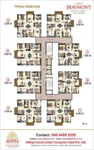 Gallery Cover Image of 1700 Sq.ft 3 BHK Apartment for buy in Aditya Empress Towers, Toli Chowki for 15250000