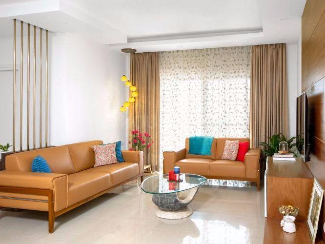 Living Room Image of 700 Sq.ft 1 BHK Apartment for rent in Wadala East for 34000