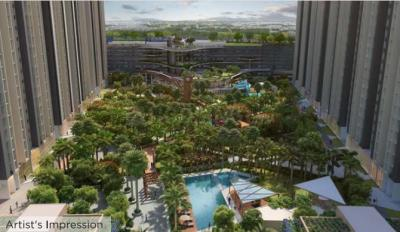 Gallery Cover Image of 760 Sq.ft 2 BHK Apartment for buy in Raymond Ten X Habitat Raymond Realty Tower J, Thane West for 12100000