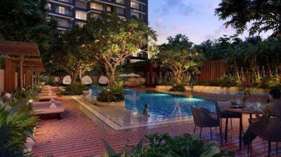 Swimming Pool Image of 2800 Sq.ft 4 BHK Apartment for buy in Kalpataru Magnus, Bandra East for 85000000