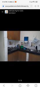 Kitchen Image of Ultimate PG For Girls And Boys in Govindpuri