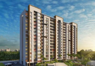 Gallery Cover Image of 599 Sq.ft 1 BHK Apartment for buy in Majestique Mrugavarsha, Dhayari for 3200000