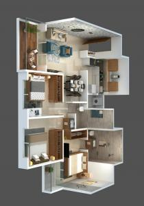 Gallery Cover Image of 1019 Sq.ft 3 BHK Apartment for buy in Mundhwa for 8000000