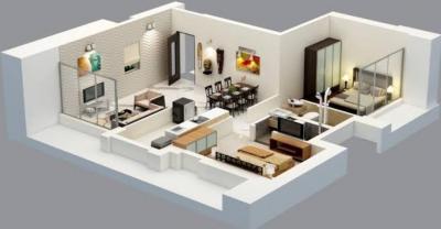 Gallery Cover Image of 1650 Sq.ft 3 BHK Apartment for buy in Adhiraj Samyama, Rohinjan for 9900000