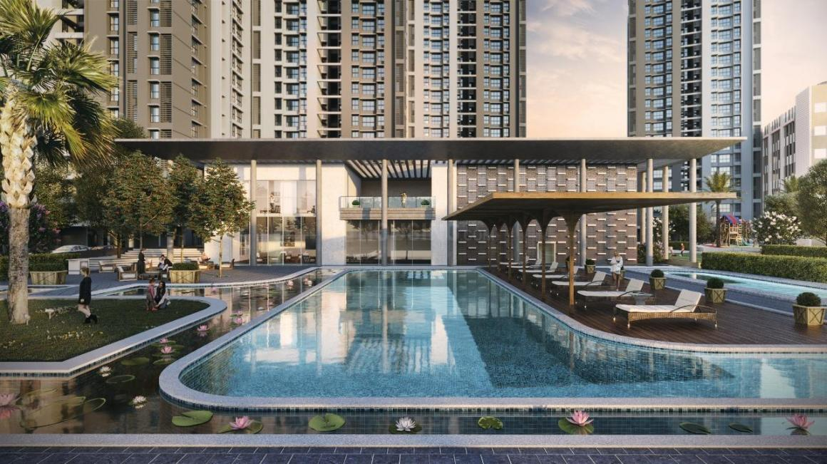 Swimming Pool Image of 622 Sq.ft 1 BHK Apartment for buy in Kalyan West for 4390000