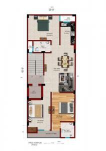 Gallery Cover Image of 1100 Sq.ft 3 BHK Independent Floor for buy in Chhattarpur for 6000000
