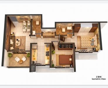 Gallery Cover Image of 912 Sq.ft 2 BHK Apartment for buy in Balaji Krishna, Thakurli for 5750000