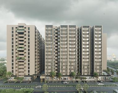Gallery Cover Image of 1107 Sq.ft 2 BHK Apartment for buy in Safal Orchid Blues, Shela for 3099600