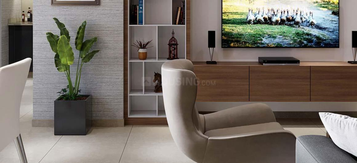Living Room Image of 770 Sq.ft 1 BHK Apartment for buy in Gujarat International Finance Tec City for 3900000