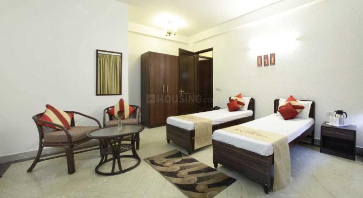 सुशांत लोक आई में एक्सेलेंसी पीजी के बेडरूम की तस्वीर