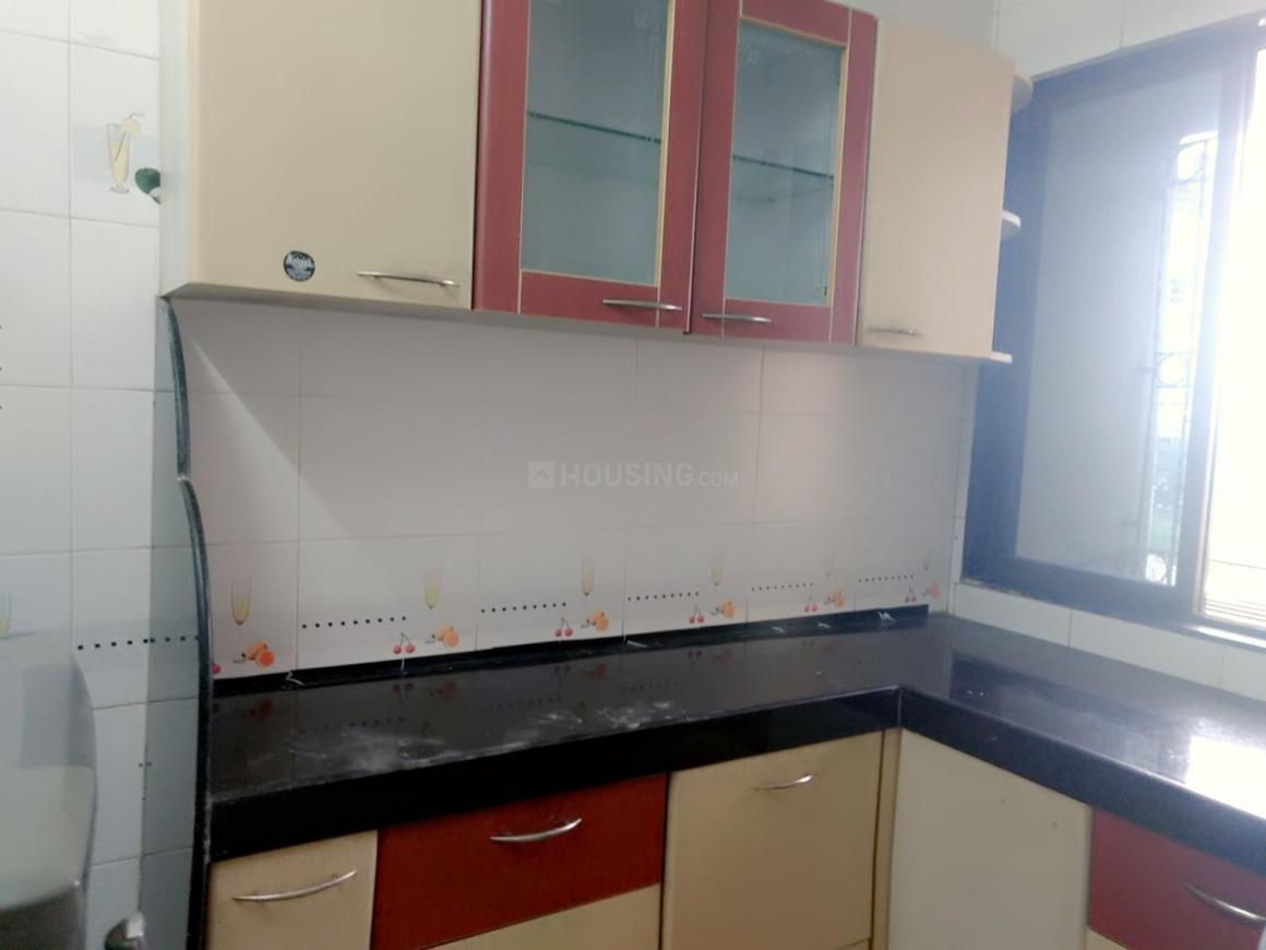 Kitchen Image of 670 Sq.ft 1 BHK Apartment for rent in Kalyan East for 19000