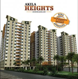 Gallery Cover Image of 647 Sq.ft 1 BHK Apartment for buy in Asvini Akila Heights, Sembakkam for 4043750