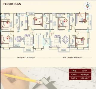 Gallery Cover Image of 1531 Sq.ft 3 BHK Apartment for buy in Athgaon for 9200000