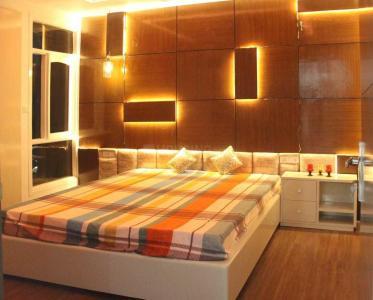 सेक्टर 12 द्वारका में लक्ज़री फ़ुल्ली फ़र्निश्ड पीजी के बेडरूम की तस्वीर