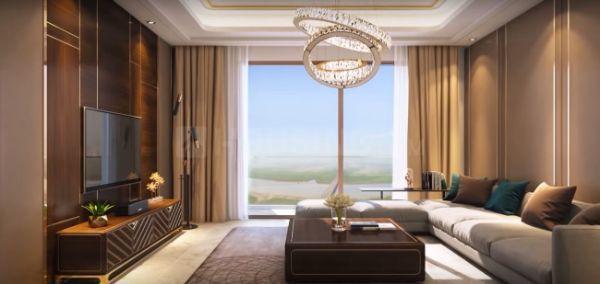 सुनटेक सिग्निया वाटरफ्रंट, ऐरोली  में 17000000  खरीदें  के लिए 17000000 Sq.ft 2 BHK अपार्टमेंट के हॉल  की तस्वीर