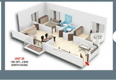 Gallery Cover Image of 1091 Sq.ft 2 BHK Apartment for buy in Nandini Pride, Talaghattapura for 3800000