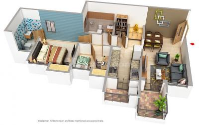 Gallery Cover Image of 874 Sq.ft 2 BHK Apartment for buy in Palava Phase 2 Khoni for 4400000