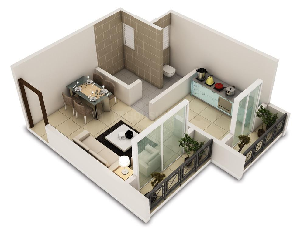 Floor Plan Image of 390 Sq.ft 1 RK Apartment for buy in Bhiwandi for 1053000