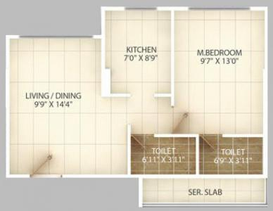 Gallery Cover Image of 525 Sq.ft 1 BHK Apartment for buy in Chembur for 13400000